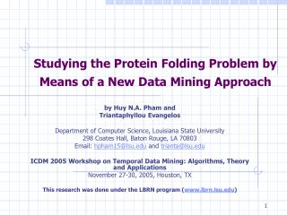 Studying the Protein Folding Problem by Means of a New Data Mining Approach