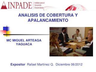ANALISIS DE COBERTURA Y APALANCAMIENTO