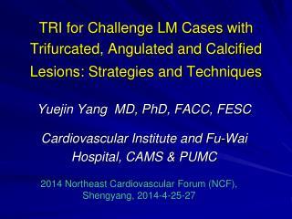 Yuejin Yang  MD, PhD, FACC, FESC Cardiovascular Institute and Fu-Wai Hospital, CAMS & PUMC