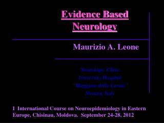 Evidence Based Neurology