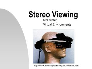 Stereo Viewing