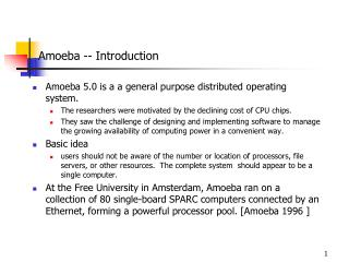 Amoeba -- Introduction