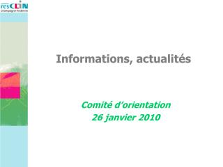 Informations, actualités