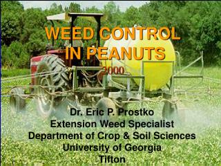 WEED CONTROL  IN PEANUTS 2000