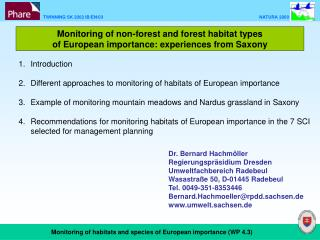 Monitoring of non-forest and forest habitat types  of European importance: experiences from Saxony