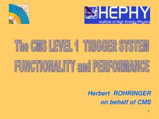 Herbert  ROHRINGER on behalf of CMS