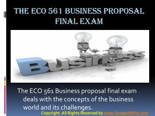 ECO 561 Final Exam Answers