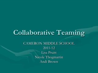 Collaborative Teaming