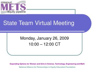 State Team Virtual Meeting