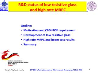 R&D status of low resistive glass  and high rate MRPC