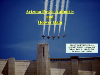 Arizona Power Authority  and Hoover Dam