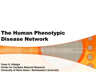 The Human Phenotypic Disease Network