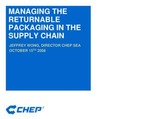MANAGING THE RETURNABLE PACKAGING IN THE SUPPLY CHAIN