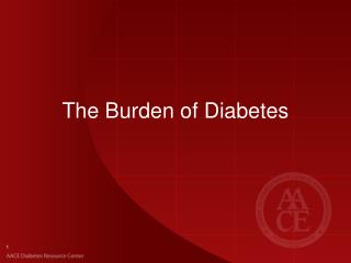 The Burden of Diabetes