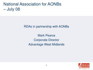 National Association for AONBs  – July 08