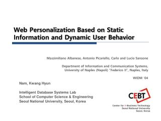Web Personalization Based on Static Information and Dynamic User Behavior