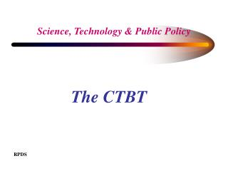 Science, Technology & Public Policy