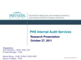 PHS Internal Audit Services