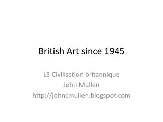 British Art since 1945