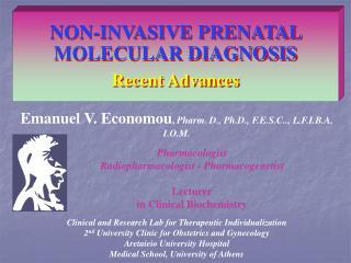 NON-INVASIVE PRENATAL MOLECULAR DIAGNOSIS