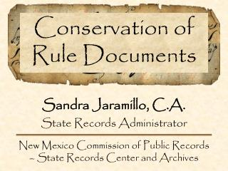 Conservation of Rule Documents
