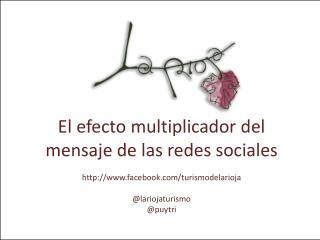 El efecto multiplicador del mensaje de las redes sociales facebook/turismodelarioja