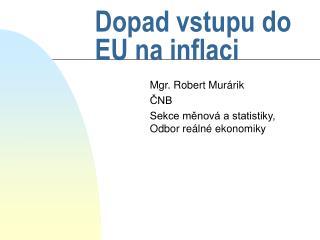 Dopad vstupu do EU na inflaci