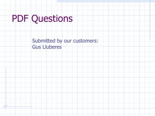 PDF Questions