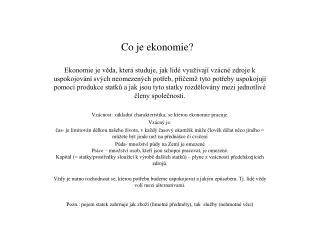 Co je ekonomie?