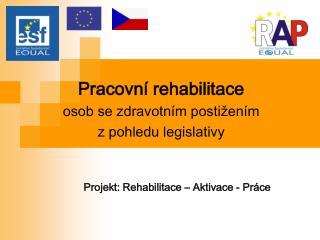 Pracovní rehabilitace osob se zdravotním postižením  z pohledu legislativy