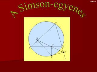 A Simson-egyenes