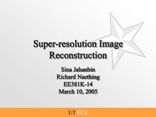 Super-resolution Image Reconstruction