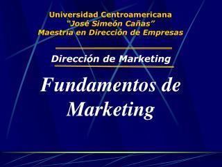 """Universidad Centroamericana """"José Simeón Cañas"""" Maestría en Dirección de Empresas"""