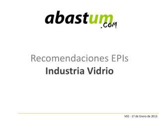 Recomendaciones  EPIs Industria Vidrio