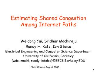 Estimating Shared Congestion Among Internet Paths