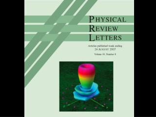 Phys Rev Letters Cover !