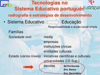 Tecnologias no  Sistema Educativo português