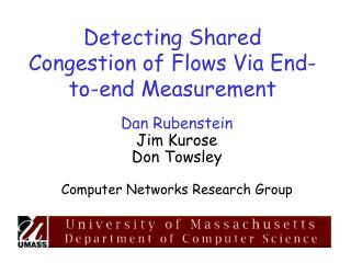 Detecting Shared Congestion of Flows Via End-to-end Measurement