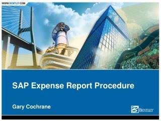 SAP Expense Report Procedure