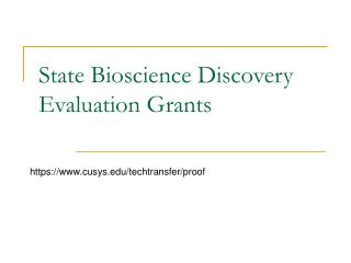 State Bioscience Discovery Evaluation Grants