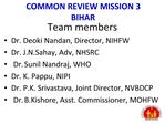 COMMON REVIEW MISSION 3 BIHAR