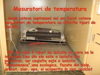 Masuratori de temperatura