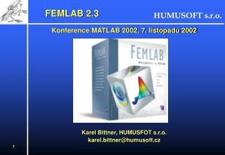 FEMLAB 2.3