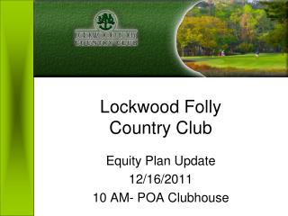 Lockwood Folly  Country Club