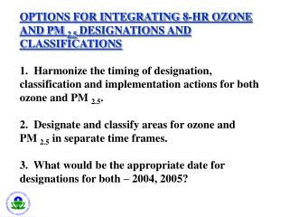 Potential Violations of PM2.5 and 8-Hr Ozone PM-2.5:  Based on 1999-2000 data