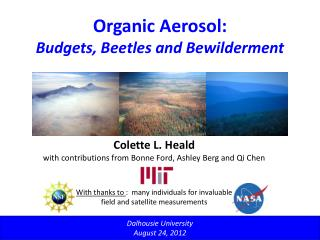 Organic Aerosol: Budgets, Beetles and Bewilderment