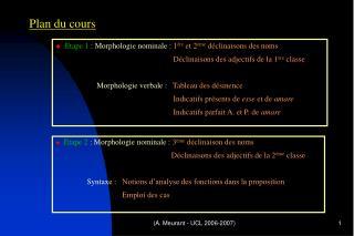 A. Meurant - UCL 2006-2007