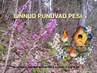 LINNUD PUNUVAD PESI