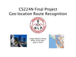 CS224N Final Project Geo-location Route Recognition