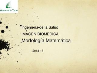 Ingeniería de la Salud IMAGEN BIOMEDICA  Morfología Matemática